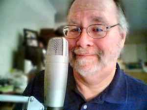 Bill Thompson at The Bookcast microphone